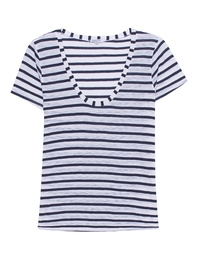 SPLENDID Venice Stripe Scoop Neck Tee
