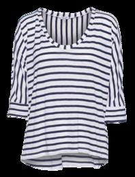 SPLENDID Venice Stripe Dolman White Blue