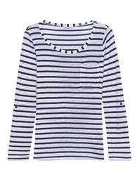 SPLENDID Venice Stripe Pocket Tee White Blue