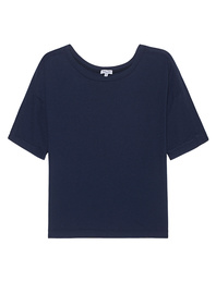 SPLENDID Very Light Jersey Boxy Tee Navy