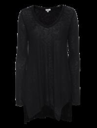 SPLENDID Slub Jersey Tunic Black