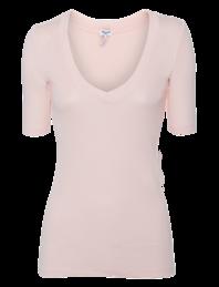 SPLENDID Slim V-Neck Shell Pink