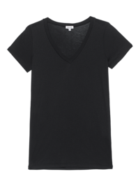 SPLENDID Very Light Jersey V-Neck Black