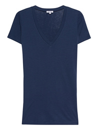 SPLENDID Light Jersey V-Neck Dark Blue