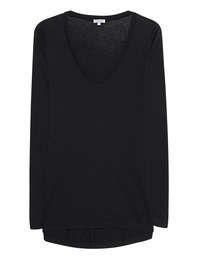 SPLENDID Very Light Jersey Scoop Black