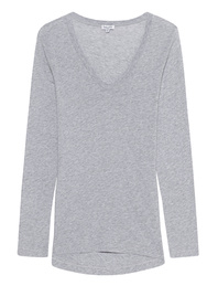 SPLENDID Light Jersey Long Sleeve Scoop Tee Heather Grey
