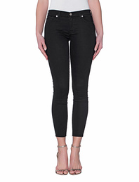 7 FOR ALL MANKIND The Skinny Crop Riche Sateen Black
