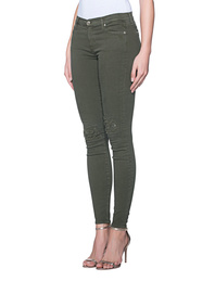 7 FOR ALL MANKIND The Skinny Slim Illusion Distressed Army