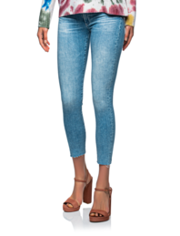 AG Jeans Prima Cropped Destroyed Light Blue