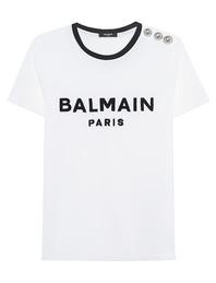 BALMAIN Velvet Logo White
