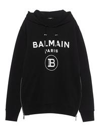BALMAIN Flock Logo Black