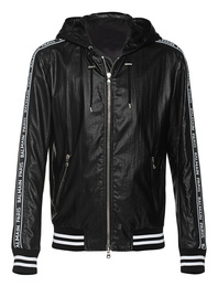BALMAIN Hoody Coated Jacket Black