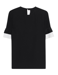 VICTORIA, VICTORIA BECKHAM Pleat Sleeve Black