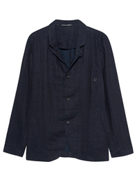 HANNES ROETHER Trail Linen Jet Dark Blue