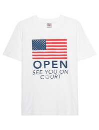 Autry Open Court American Flag White