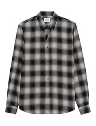 Dondup Checked Linen White Black
