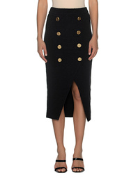 BALMAIN Wrap Midi Button Black