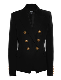 BALMAIN Long Gold Button Black