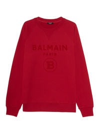 BALMAIN Logo Flock All Red