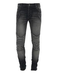 BALMAIN UOMO Slim Embossed Black