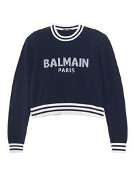 BALMAIN Wording Marine Blue