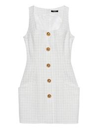 BALMAIN Button Tweed White