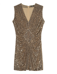 BALMAIN Gathered Sequined Gold