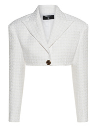 BALMAIN 1 BTN Tweed White
