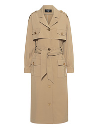 BALMAIN Buttoned Trench Cargo Beige