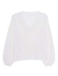 JADICTED V-Neck Cashmere Knit Off-White