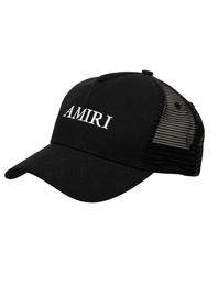 Amiri Logo Trucker Hat Black