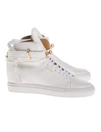 Buscemi Alta 100MM White Gold