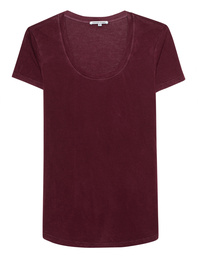 Cotton Citizen Mykonos Scoop Tee Bordeaux