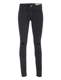 RAG&BONE Skinny Soft Rock Holes Black