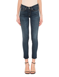 RAG&BONE High Rise Ankle Skinny Destroyed Blue