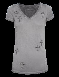 TRUE RELIGION VNeck Mini Cross Castlerock