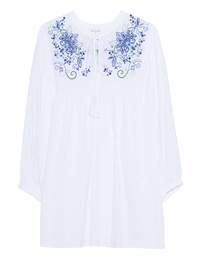 TRUE RELIGION Tunic Flowers White