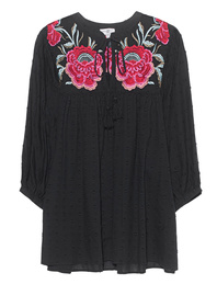 TRUE RELIGION Tunic Roses Black