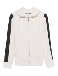 TRUE RELIGION Hooded Zip Stripe White
