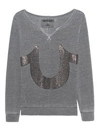 TRUE RELIGION Horseshoe Embellished Grey