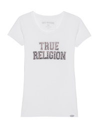 TRUE RELIGION Label Spark White