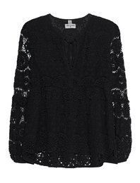 TRUE RELIGION Tunic Flower Lace Black