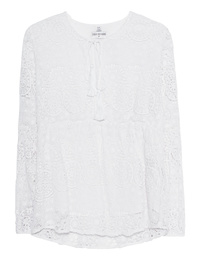 TRUE RELIGION Tunic Flower Lace White