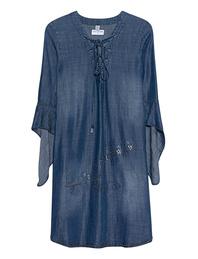 TRUE RELIGION Dress Rivets Denim Blue