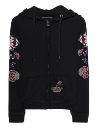 TRUE RELIGION Hooded Jacket Flower Black