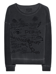 TRUE RELIGION Crew Sweat Artwork Mix Black