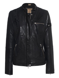 TRUE RELIGION Leather Eagle Jet Black