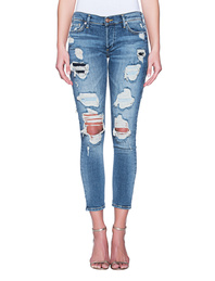 TRUE RELIGION Liv Cut Out Damages Blue