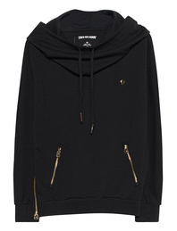 TRUE RELIGION Wide Turtleneck Black