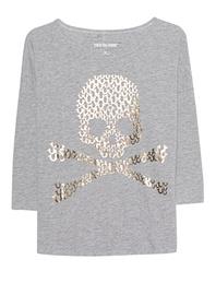 TRUE RELIGION Boxy Skull Grey